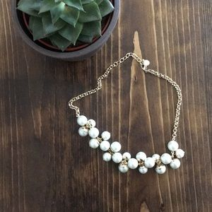 ⚜️ Grapevine - Pearl and Gold short necklace